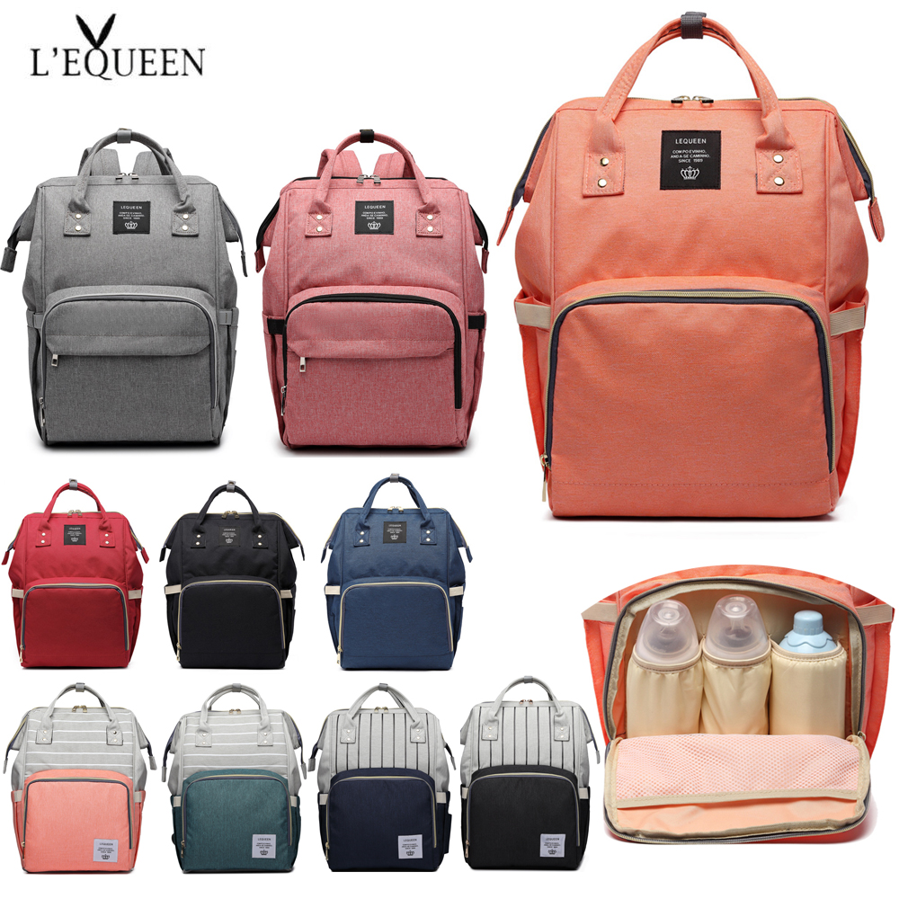 Image 2 - Fashion Mummy Maternity Nappy Bag Large Capacity Baby Bag Travel Backpack Nursing Bag for Baby Care Nappy Hand Bag-in Diaper Bags from Mother & Kids