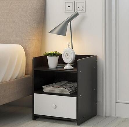 34*34*45CM Modern Wood Bedside Table Folding Bedroom Storage Cabinet Nightstand