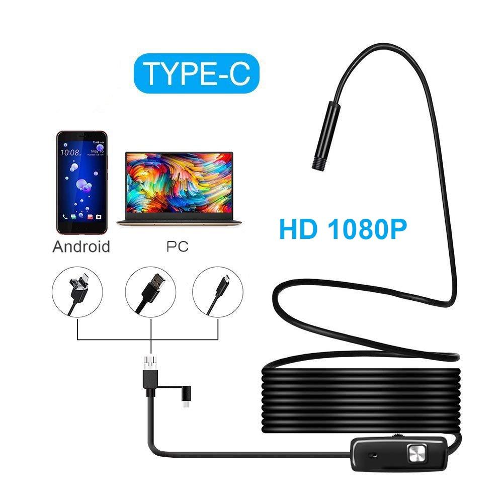 1M 2M 5M 3.5M 1080P HD USB Android Endoscope Camera 8mm USB  Borescope Tube Snake Mini Camera Micro Camera 8 Leds For Android PC