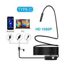 цена на 1M 2M 5M 3.5M 1080P HD USB Android Endoscope Camera 8mm USB  Borescope Tube Snake Mini Camera Micro Camera 8 leds For Android PC
