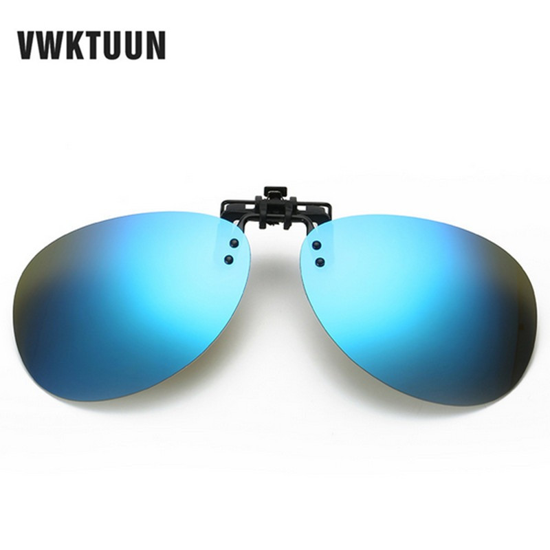 VKWTUUN Oval Polarized Clip On Sunglasses Women Men Oversized Sun Glasses Driving Fishing Polarized Mirror Lens Anti-UVA -UVB