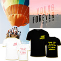 HPEIYPEI KPOP Corea Moda BTS K-POP Bangtan niños 2016 Álbum Siempre Joven Camiseta De Algodón Camisetas Camiseta PT107