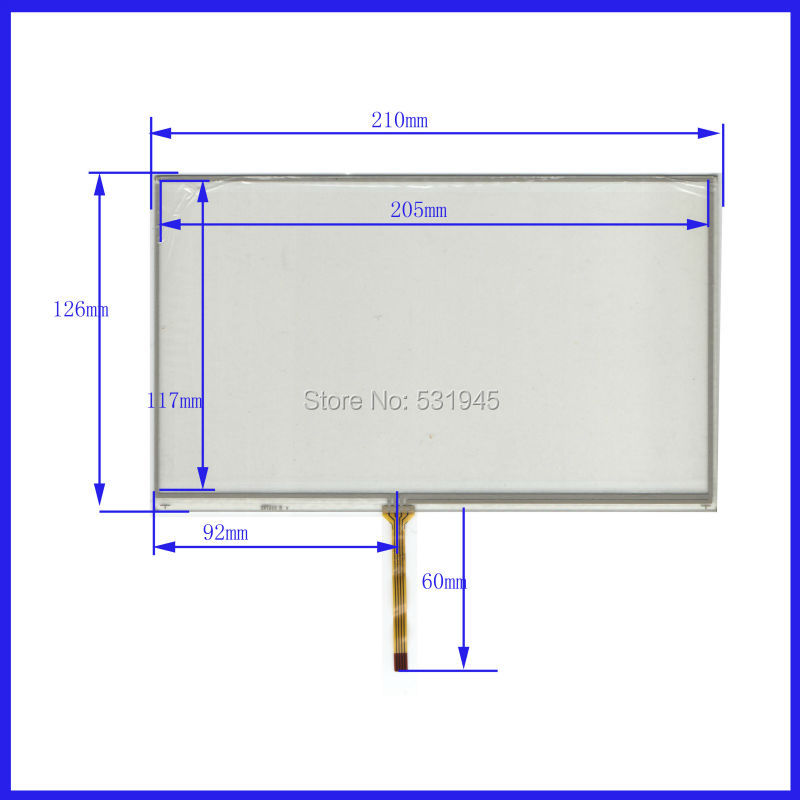 NEW 9 Inch TouchScreen 210*126 210mm*126mm for industry applications GLASS on AT090TN10 display