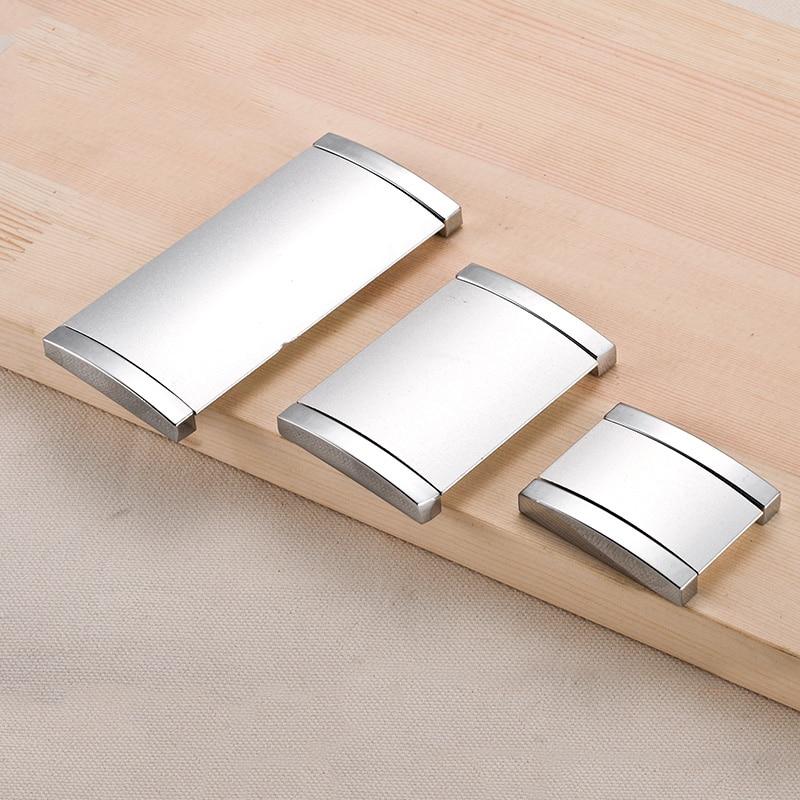 1pcs cabinet furniture hidden recessed flush pull aluminum oxide concealed handle sand silver window handle sliding - Cabinet Door Pulls