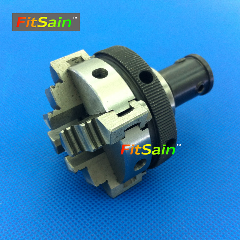 FitSain-Four jaw chuck D=50mm CNC mini SELF-CENTING maiually operated chuck Bench Lathe parts Used for motor shaft 8mm/10mm easy operation 600 900 mm mini cnc lathe