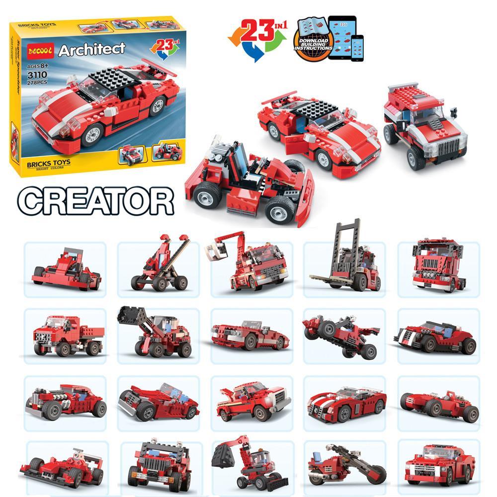 23in1 Decool 3110 Super F1 Truck Speed Car Building Blocks Bricks