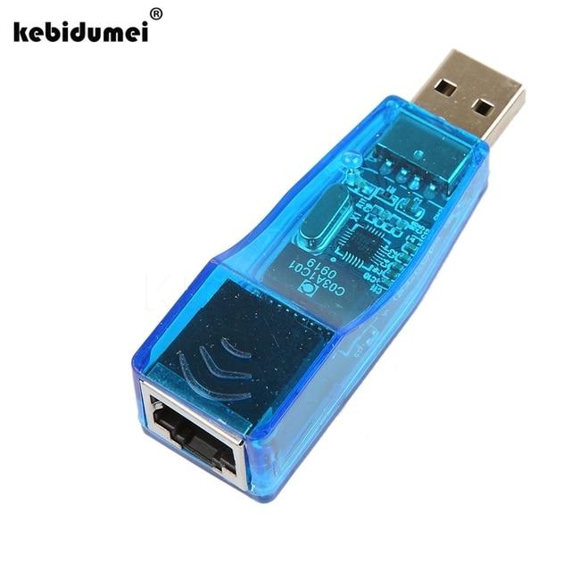 Kebidumei USB Ethernet RJ45 адаптер сети LAN Card Лидер продаж Ethernet Внешний сетевой адаптер карты 10/100 Мбит/с для портативных ПК