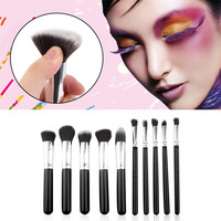 Make Up 10Pcs Set Professional Synthetic Kabuki Makeup Brushes Set Beauty Cosmetics Foundation Blending Blush Make