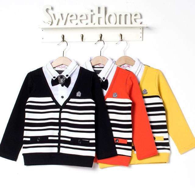 Meninos Cardigan 2015 primavera outono novo bebê crianças camisola crianças jaqueta de marca 2 - 7 anos de idade do menino camisola casacos de lã crianças menino casaco