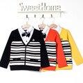 Rebeca de los niños 2015 del otoño del resorte nuevo bebé niños suéter niños chaqueta de marca 2-7 años Old Boy ' s Sweater Cardigans los niños niño