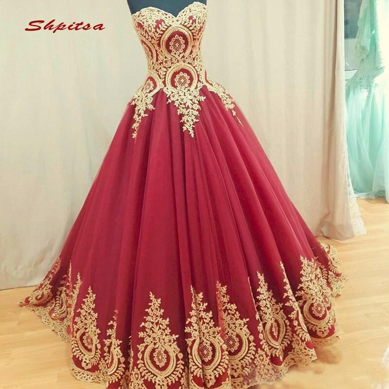 Rouge Dentelle Quinceanera Robes robe de Bal Sweatheart Tulle de Bal Débutante Seize 15 Doux 16 Robe robes de 15 anos