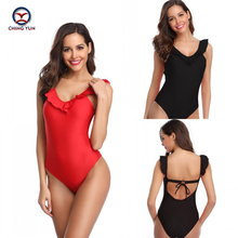 CHING YUN Women One-Piece Swimsuit Lady fashion Barebacked design Lace Swimwear 2019 Explosion Models Hot spring clothes1918