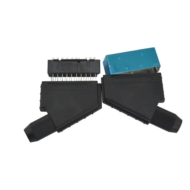 10 sztuk dużo Scart JP21 wtyczka 21 pin złącze męskie podłączyć Gniazdo portu złącza interfejsu gniazdo do S N E S kabel AV