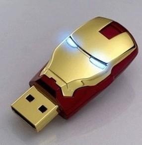 Flash Drive 2014 Iron Man Led Pen Drive 4g 16g 32g 8g 2.0