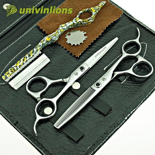"""Univinlions 6 """"профессиональные ножницы парикмахерские инструменты парикмахера оборудование комплект волос ножницы салон продукты прическа"""