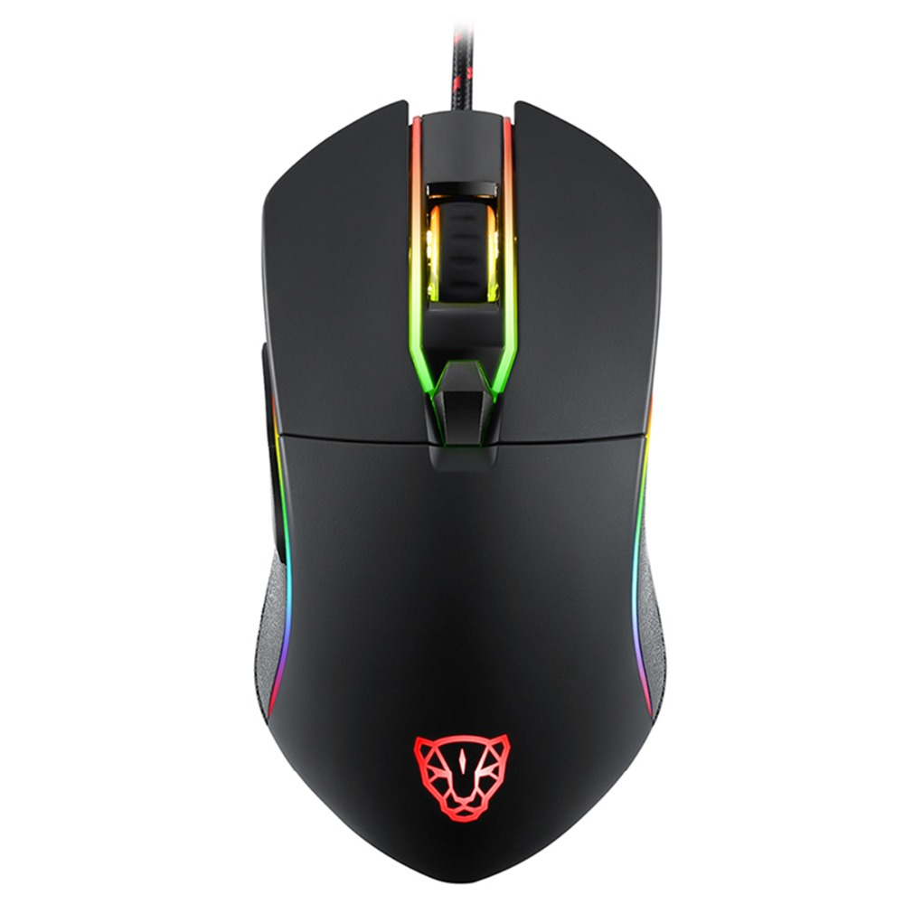 Motospeed V30 Professional USB Wired Gaming Mouse 3500DPI Optical Mice Backlit Port  Android IOS Linux With LED Backlit Disply
