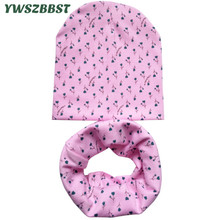 New Spring Cotton Baby Hat Girl Boy Cap Floral Crochet Autumn Winter Kids Beanie Infant Hat Children Scarf Collar Baby Cap цена в Москве и Питере