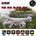 Бесплатная доставка Syma X5C x5c-1 Квадрокоптер 2.4 Г 6 Оси ГИРОСКОПА HD Камера RC Quadcopter RTF Вертолет RC Drone с 2.0MP камера