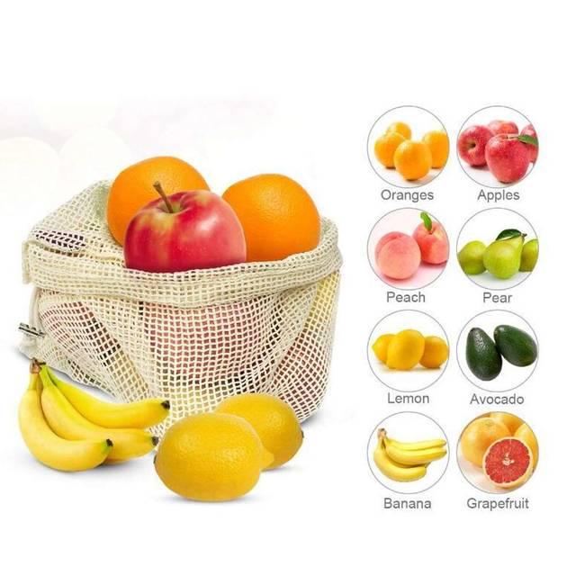 3pcs Beeswax Wrap Cloth + 3Pcs Degradable Organic Cotton Mesh Storage Bag Eco Friendly Reusable Food Fresh Keeping Sets 6