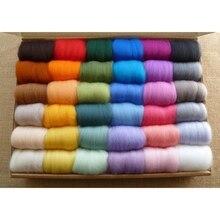 30 Colors Poke Merino Wool Yarn For Knitting Cashmere Handwork Thick Yarns Cotton Soft Baby Needlework Roving New
