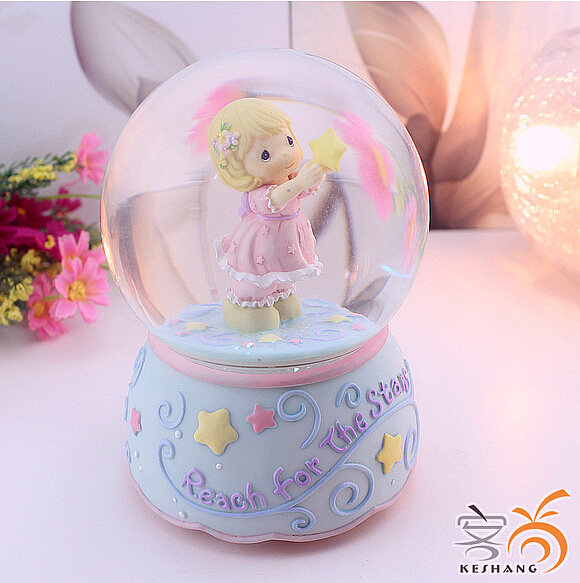 The Girl Crystal Ball Music Box To Send Female Friends Bestie Childrens Day Birthday Gift Items