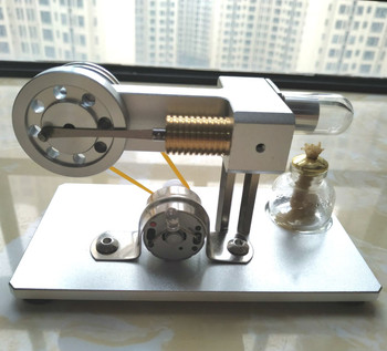 Scientific Experiments on Birthday Gifts for Steam Engines of Micro Metal Stirling Engine Model Generators wooden hydraulic excavator model handmade scientific experiments steam