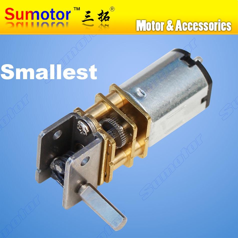 GW12GA DC 6 v 12 v kleinste Wurm getriebe motor Niedriger geschwindigkeit Ultra mini getriebe Reversible Elektrische motor für smart auto Roboter Lock