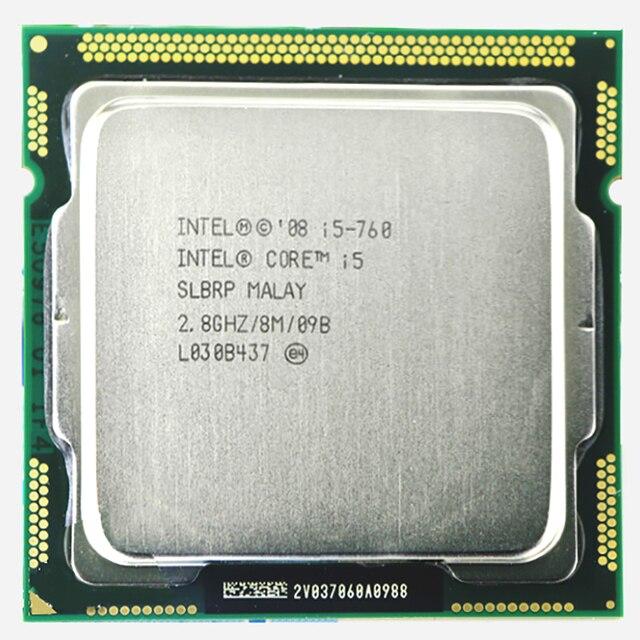 Original INTEL core 2 CPU i5 760 Processador i5-760 (2.8 GHz/8 MB Cache/Socket LGA1156/45nm) área de trabalho i5 760 CPU garantia 1 ano
