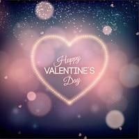 Light Heart Polka Dot Bokeh Theme Happy Valentines Day backdrop Vinyl cloth Computer printed wall studio background