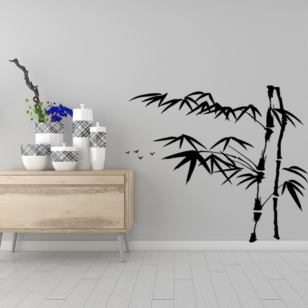 Colorful bamboo Vinyl Decals Wall Stickers for Living Room Company School Office Decoration Vinyl Art Decal in Wall Stickers from Home Garden