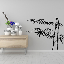 Colorful bamboo Vinyl Decals Wall Stickers for Living Room Company School Office Decoration Art Decal
