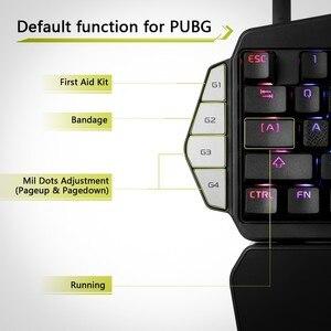 Image 4 - Delux T9X Single Handed Mechanische Gaming Toetsenborden Volledig Programmeerbare Usb Bedraad Toetsenbord Met Rgb Backlight Voor Pubg Lol E Sport
