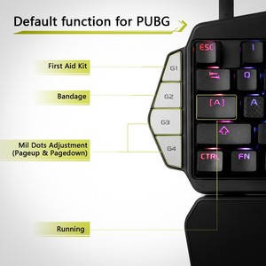 Image 4 - Delux T9X Single handed Mechanical Gaming keyboards fully programmable USB wired keypad with RGB backlight for PUBG LOL E Sports
