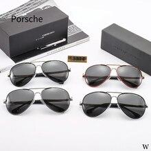 61ffb5173a La policía Marca Diseño clásico gafas de sol polarizadas de acero  inoxidable de conducción marco cuadrado gafas de sol hombre ga.