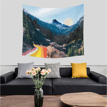 Landscape Rainbow Tapestry Wall Hanging Nature Forest Mountain Wall Cloth Tapestries Hippie Boho Decor Wall Carpet Throw Blanket 3d print forest and mountain landscape tapestry wall hanging tapestries for home decor misty forest wall cover tapestry