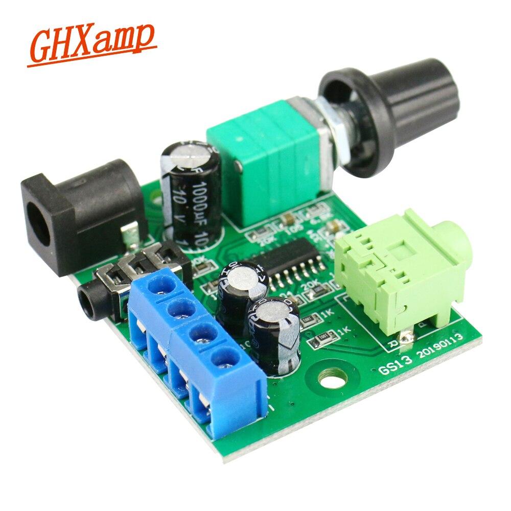 GHXAMP Mini Audio Power Amplifier 3W+3W Stereo 3.5mm AUX input Headphone Headset Amplifier Board DC 5V USB charging 1pc