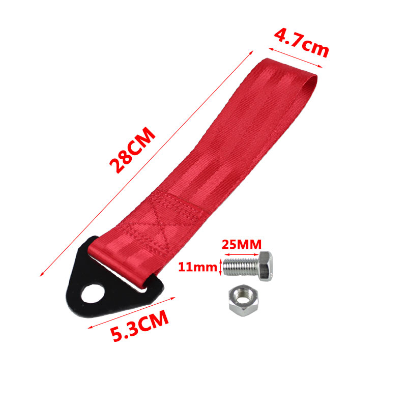 Image 2 - RASTP Smooth Material Towing Rope Nylon Tow Eye Strap Tow Loop Strap Racing Drift Rally Emergency Tool Front Rear  RS BAG013A NM-in Towing Bars from Automobiles & Motorcycles