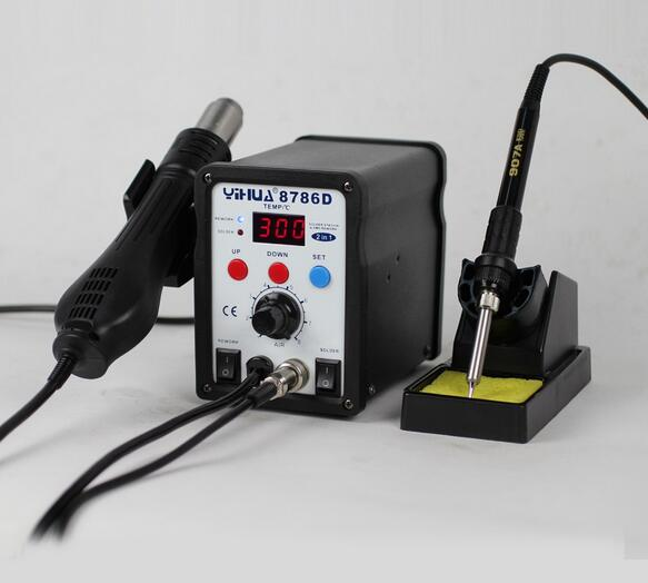 ФОТО 2 in 1 LED repairing soldering machine portable welding machine/Heating Gun for soldering station