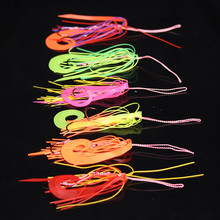 50PCS Silicone Skirt Jig Replacement Twin Hook Slider Rig Spare Hooks Assist Trailer Lure Octopus Mimicking Set Size #13