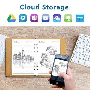 Image 5 - NEWYES Cuaderno borrable inteligente, papel de cuero, libreta con cable reutilizable, almacenamiento en la nube, Flash, forrado con bolígrafo