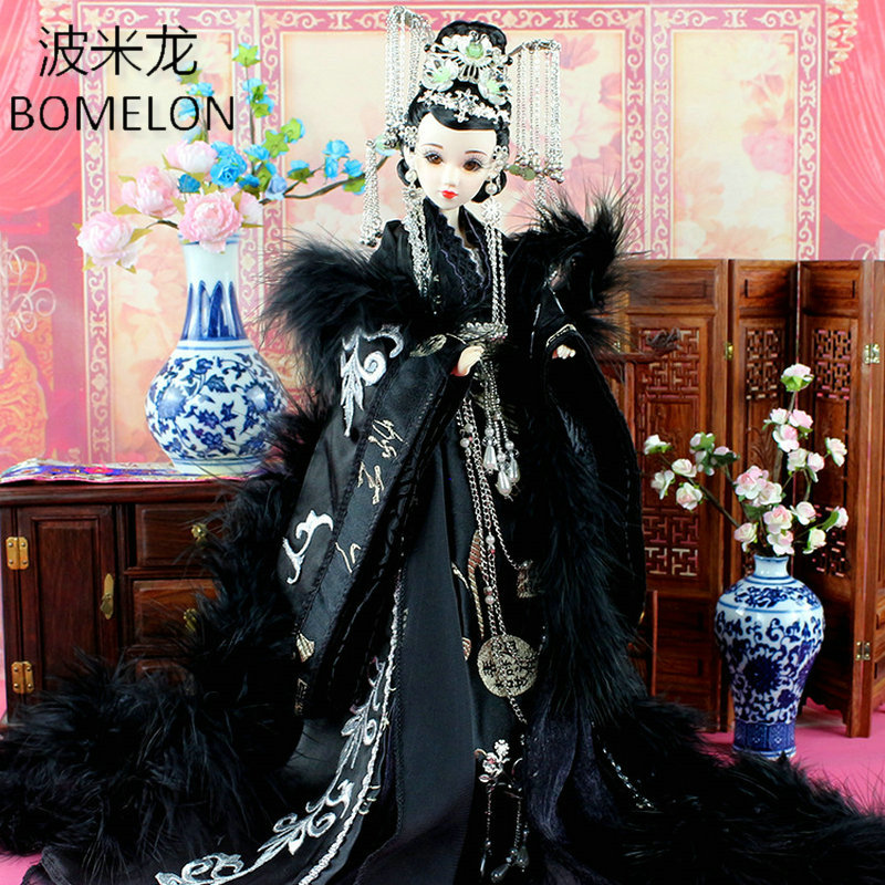 Tang Dynasty Beauty Shangguan Wan'er High-end Handmade Chinese Dolls Ancient Costume Jointed Doll Articulated Toys Girls Gift handmade chinese ancient doll tang beauty princess pingyang 1 6 bjd dolls 12 jointed doll toy for girl christmas gift brinquedo