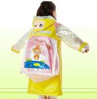 Yuding Student Raincoat Baby Children Cartoon Kids Girls Rainproof Rain Coat Waterproof Poncho Rainwear Waterproof Rainsuit