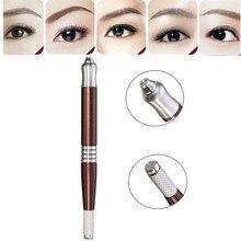 Double Use Eyebrow Microblading Pen Permanent Makeup Pen Machine Manual Microblade Pen Pro Tebori Eyebrow Tattoo Equipment