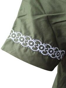 Image 5 - Dashikiage African Man Casual Top Kwanzaa Embroidery Dashiki Summer Mens t shirt