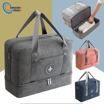 Качественная спортивная сумка для тренировок, спортивная сумка, мужская и женская обувь для хранения, сумки для фитнеса, прочная многофункц...