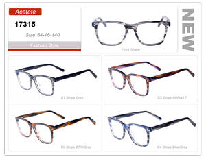 59deb3c712dd Eye wonder Wholesale Man Square Glasses Frames Designer Glasses Blue  Transparent Striped