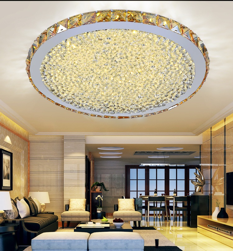 Ceiling Dome Light: Free Shipping Led Ceiling Dome Light Round Crystal Lamp