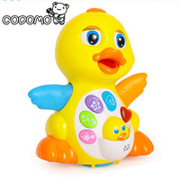 Electronic Pets Baby Toys EQ Flapping Yellow Duck Infant Brinquedos Bebe Electrical Universal Toy For Children