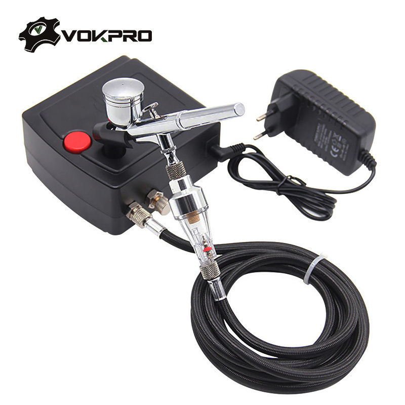 0 2 0 3mm Dual Action Airbrush With Compressor Portable Spray Guns For Nail Design Painting