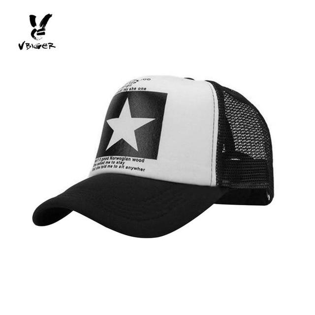 6423f9caba6 Vbiger Men Baseball Hat Peaked Cap Chic Hip-hop Snapback Cap Casual Outdoor  Sun Hat Trendy Mesh Casquette Cap
